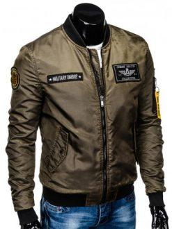 moška jakna brez kapuce
