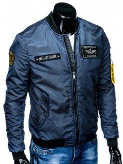 vojaška moška jakna modre barve
