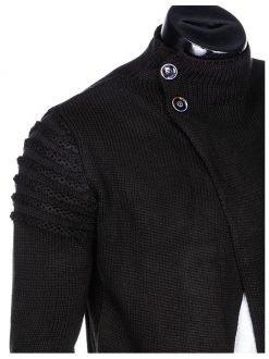 črna pletena moška jopa