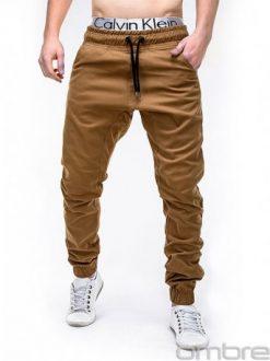 rjave dolge moške hlače