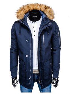moška zimska bunda z ovratnikom